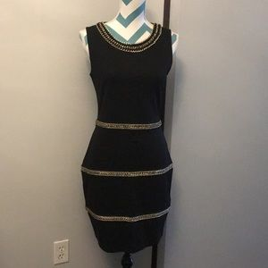 NEW never worn.....H&M Black & Gold Bodycon Dress
